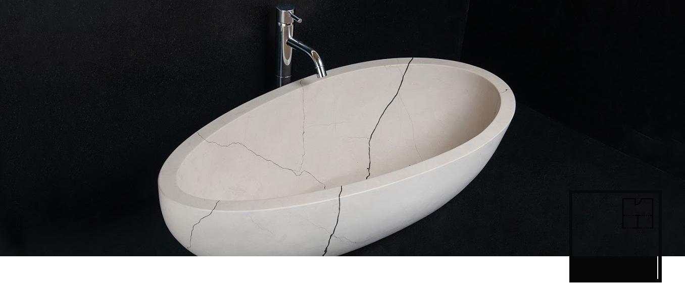 Раковины для ванных комнат из мрамора Pietre di Rapolano