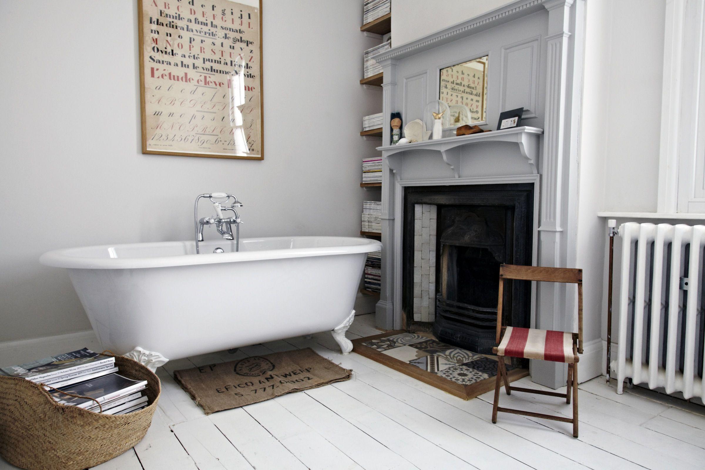 Камин в ванной - идеи