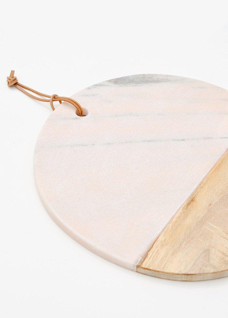 Розовый мраморный поднос дизайн рождественские подарки розовая мраморная сервировочная доска круглая